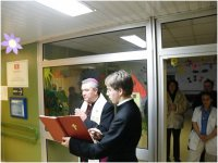 2013.01.04. - Inkubátormegáldás a Markusovszky kórházban (Szombathely)