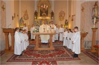 Blessing of thenew liturgical place in Nemesbőd