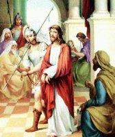 I. állomás: Pilátus halálra ítéli Jézust