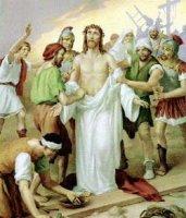 X. állomás: Jézust megfosztják ruháitól