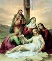 XIII. állomás: Jézus testét leveszik a keresztről