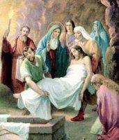XIV. állomás: Jézus holttestét sírba teszik