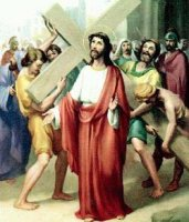 II. állomás: Jézus vállára veszi a keresztet