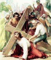 III. állomás: Jézus először esik el a kereszttel