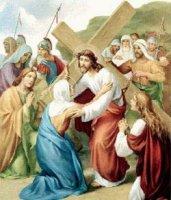 IV. állomás: Jézus Szent Anyjával találkozik