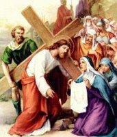 VI. állomás: Veronika kendőt nyújt Jézusnak