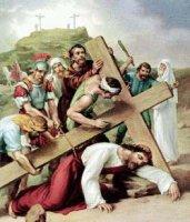 IX. állomás: Jézus harmadszor esik el a kereszt súlya alatt